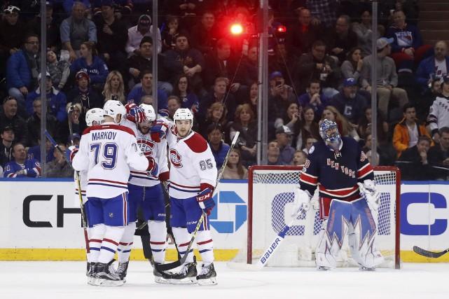 Le Canadien a fait briller la lumière quatre... (AP, Julie Jacobson)
