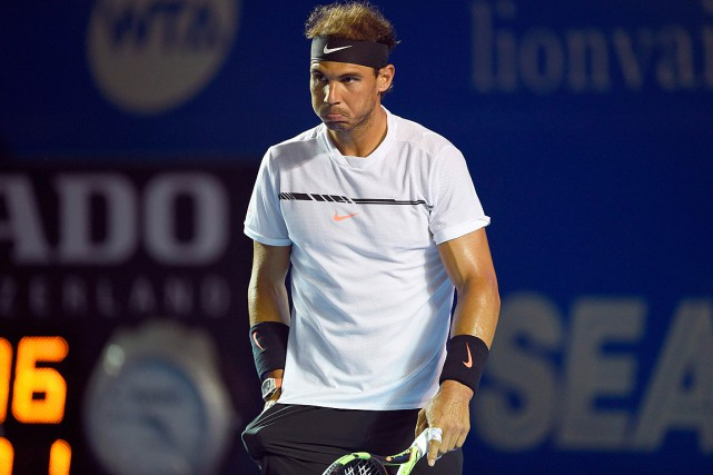 Rafael Nadal... (PHOTO ALFREDO ESTRELLA, AGENCE FRANCE-PRESSE)
