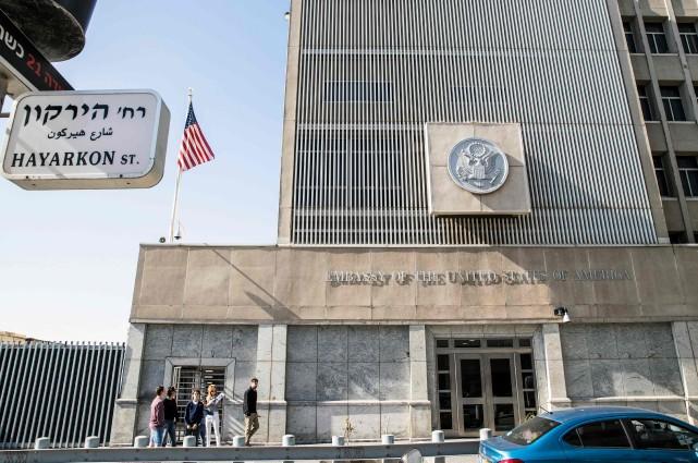 L'ambassade des États-Unis est située à Tel-Aviv.... (Photo JACK GUEZ, archives AFP)