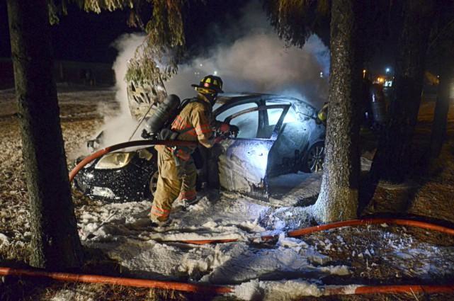 Les pompiers de Drummondville sont intervenus sur les... (Collaboration spéciale, Éric Beaupré)
