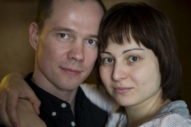 Ildar Dadineavec sa femme Anastasia, avec qui il... (AP, Alexander Zemlianichenko Jr)