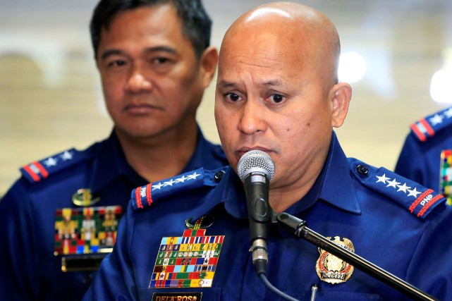 Le chef de la police Ronald Dela Rosa.... (Photo Romeo Ranoco, REUTERS)