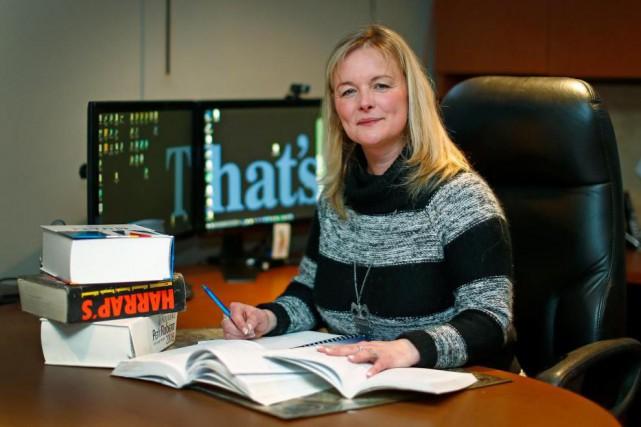 Anne Rulkin, traductrice indépendante, dans son bureau de... (PHOTOMathieu Bélanger, Collaboration spéciale)