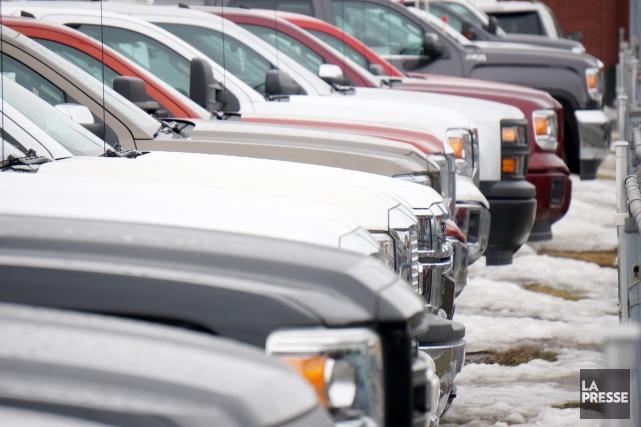 Les vols de camionnettes sont en hausse importante à Sherbrooke.Au cours des... (Archives La Presse)