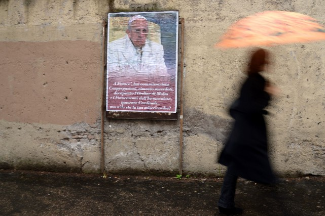 Le groupe international We Are Church «appelle le pape François... (Photo FILIPPO MONTEFORTE, AFP)