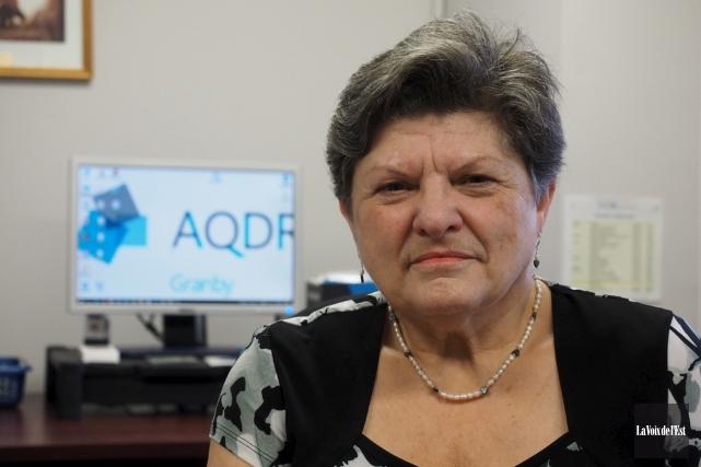 Pierrette Boulais, présidente de l'AQDR Granby.... (archives La Voix de L'Est)