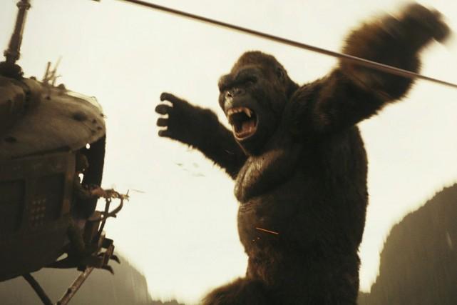 La taille de King Kong atteint des sommets... (Photo fournie par Warner Bros.)