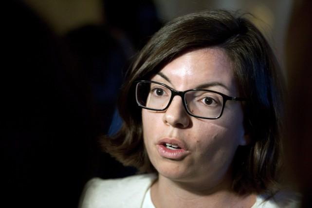 En conférence de presse à Ottawa, la candidate... (Photo Liam Richards, archives La Presse canadienne)