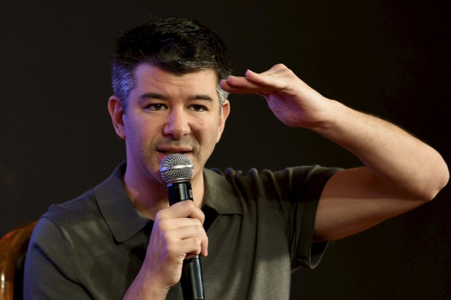 Le patron-fondateur d'Uber, Travis Kalanick... (AFP, Money Sharma)