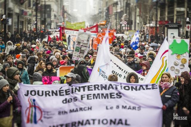 La Journée internationale des femmes est célébrée chaque... (archives La Presse)