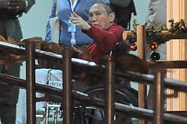 Manuel Noriega en 2011 à son arrivée à... (AFP, Rodrigo Arangua)