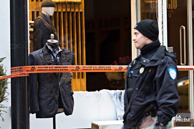 La boutique Giorgio Gruppo Roma est située sur... (Patrick Sanfaçon, La Presse)