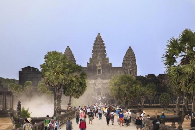 Le temple d'Angkor Wat vaut certainement une courte... (Photo fournie par Joëlle Choquette et Iouri Philippe Paillé, collaboration spéciale)