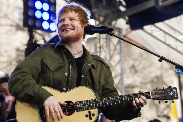 Ed Sheeran au Today Show, à New York... (Charles Sykes, Invision/AP)