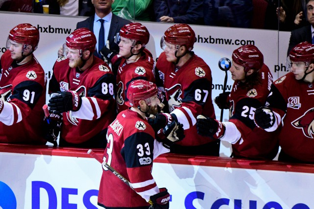 Les Coyotes de l'Arizona évoluent présentement au Gila... (Photo Matt Kartozian, USA Today Sports)
