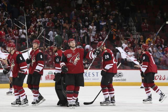 S'ils diront éventuellement adieu à Glendale, les Coyotes... (AFP, Christian Petersen)