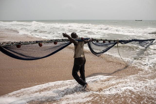 Ouidah, petite ville au bord de l'océan Atlantique,... (AFP, Stefan Heunis)