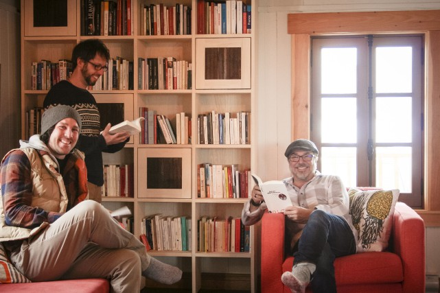 Vincent Bouchard (à l'avant) et Guillaume G-Ouellet, copro-priétaires... (Claudia Tessier)