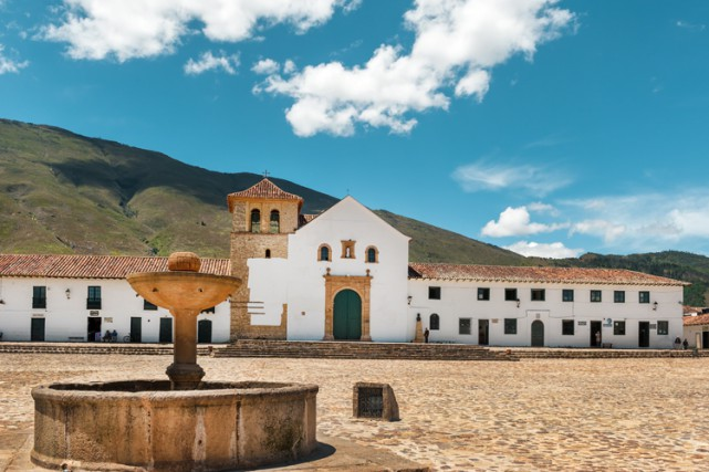 La place centrale à Villa de Leyva, village où... (PHOTO WIKICOMMONS)