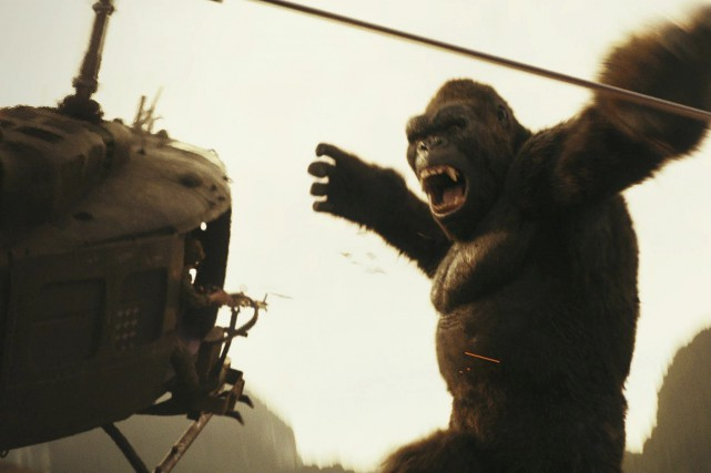 La taille de King Kong atteint des sommets... (fournie par Warner Bros.)