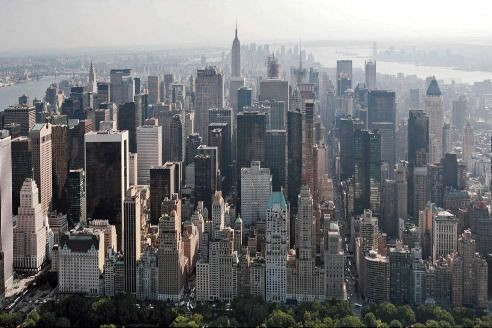 Vue aérienne de Manhattan... (Archives AP)
