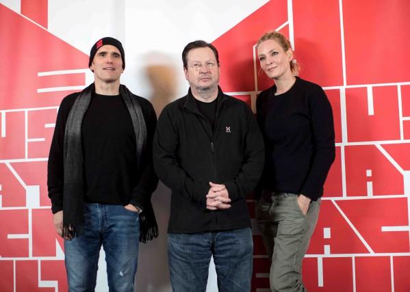 Les acteurs Matt Dillon et Uma Thurman sont... (AFP, Bjorn Larsson Rosvall)