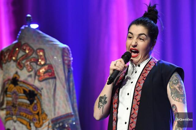 L'humoriste Mariana Mazza arrive en tête des finalistes... (Photo Rocket Lavoie, Archives Le Quotidien)