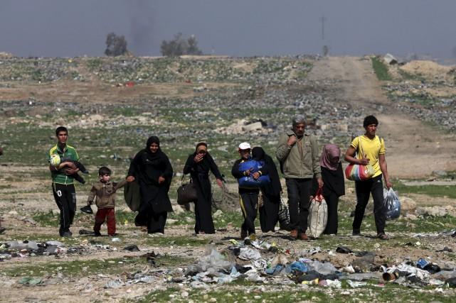 Les violents combats opposant l'armée irakienne et les... (AP, Khalid Mohammed)