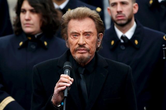 Johnny Hallyday a admis être soigné pour un... (Archives AFP)