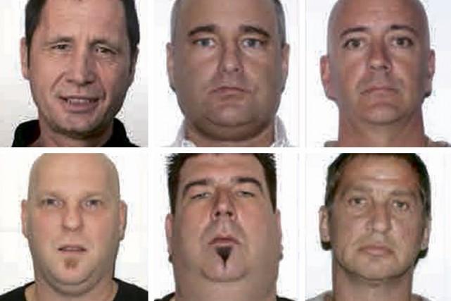 Steve Fortin, en haut à gauche, serait le... (Fournie par la Sûreté du Québec)
