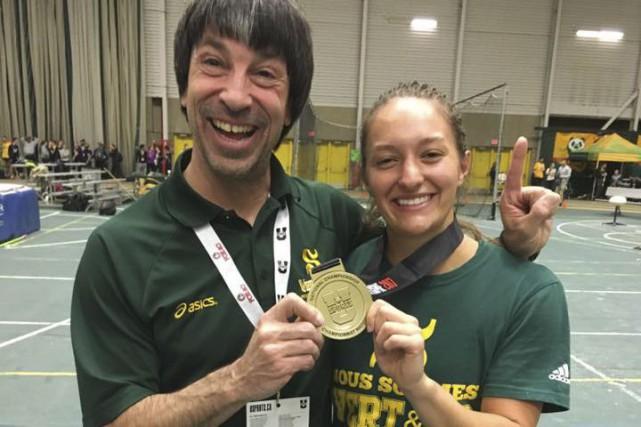 Émy Béliveau a remporté la médaille d'or au... (Tirée de Facebook)
