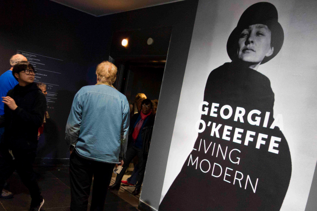 Bien avant les egoportraits et Instagram, Georgia O'Keeffe... (AFP, Don Emmert)