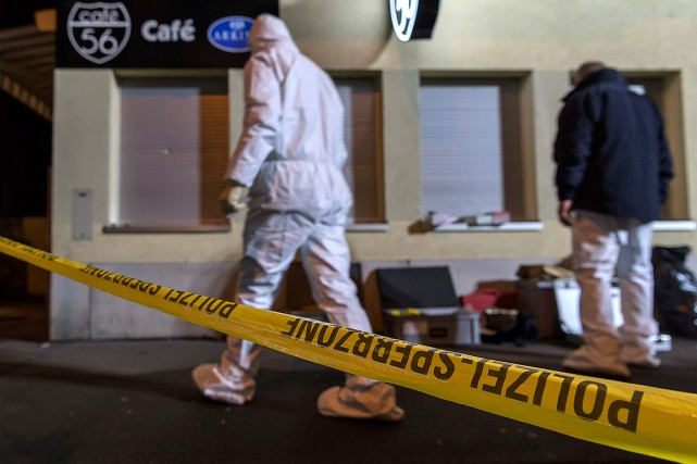 L'attaque a eu lieu vers 20h15 dans le... (Georgios Kefalas, Keystone via AP)