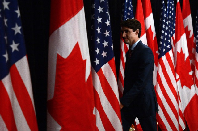 Le premier ministre Justin Trudeau assistait aujourd'hui, à Houston,... (photo Sean Kilpatrick, La Presse canadienne)