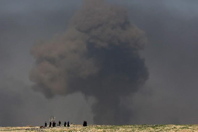 Le Pentagone avance que des membres du groupe... (Photo Khalid Mohammed, AP)