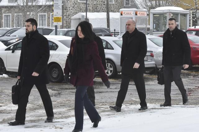 Le procès des quatre policiers de Trois-Rivières, accusés... (François Gervais)