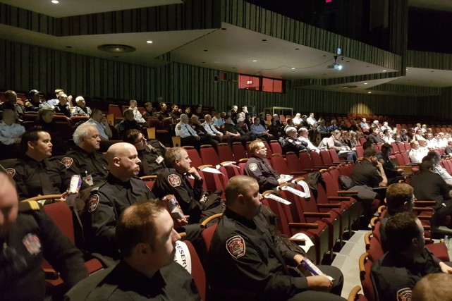 Mieux vaut prévenir que guérir. Quelque 150pompiers ont... (fournie par le Service de sécurité incendie de Cowansville)