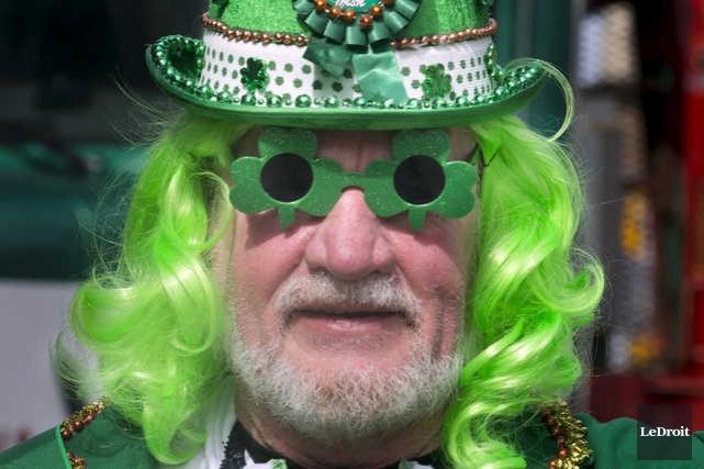 Le défile de la Saint-Patrick à Ottawa.... (MARTIN ROY, LE DROIT)