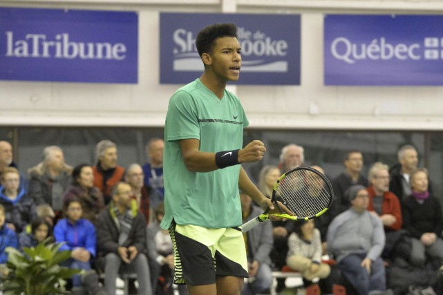 La nouvelle sensation du tennis canadien Félix Auger-Aliassime n'a fait qu'une... (Spectre Média, Maxime Picard)