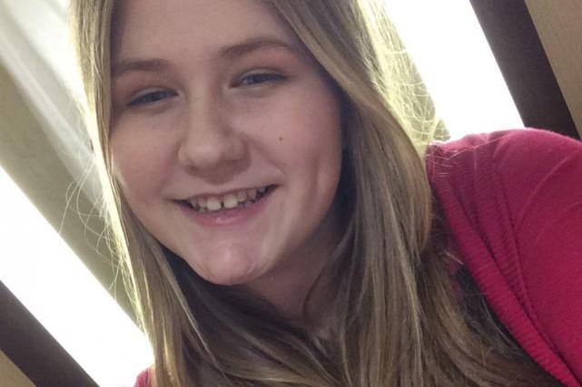 Océane Lavoie, une adolescente de 14 ans de... (Photo courtoisie)