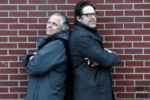 André-Philippe Côté et Richard Vallerand ont uni leurs... (Photo Le Soleil)