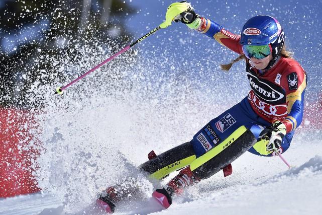 Mikaela Shiffrin est lareine incontestée du slalom depuis... (Photo Scott Sady, AP)