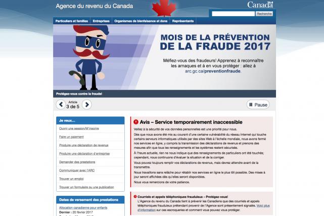 L'Agence du revenu du Canada a publié un...
