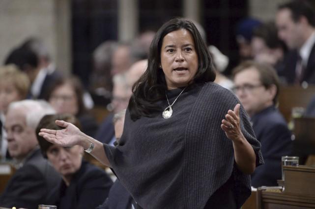 La ministre fédérale de la Justice, Jody Wilson-Raybould,... (La Presse canadienne, Adrian Wyld)