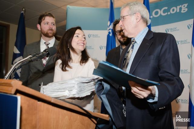 Martine Ouellet a déposé les plus de 1000... (La Presse, Ninon Pednault)