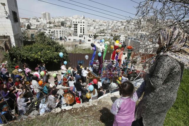 Un défilé de la fête de Pourim s'est... (PHOTO AFP)
