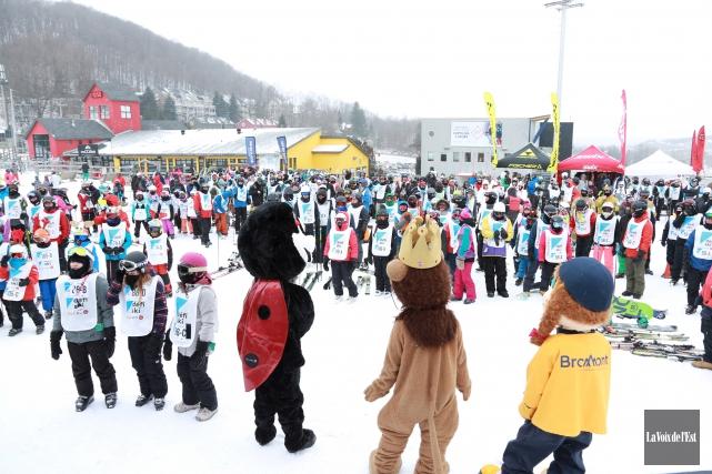 L'énergie était au rendez-vous au Défi ski Leucan... (Catherine Trudeau, La Voix de l'Est)