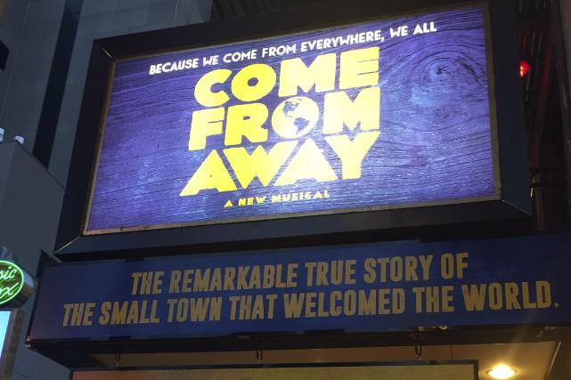 La comédie musicale Come from Away raconte l'histoire... (AFP, Thomas Urbain)