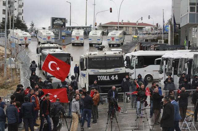 Le consulat des Pays-Bas à Istanbul a été... (AFP, Adem Altan)