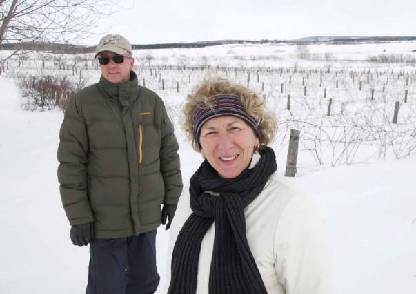 Réjean Lampron et Martine Cloutier vendent leur vignoble... (Sylvain Mayer)